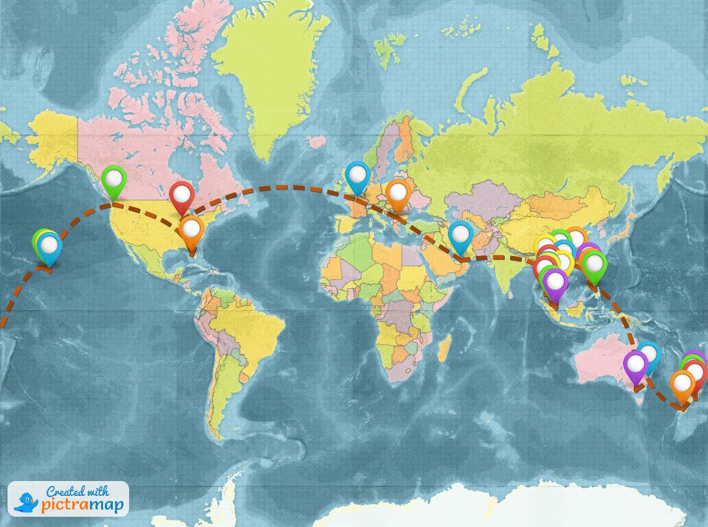 Around the world trip - freelance lifestyle
