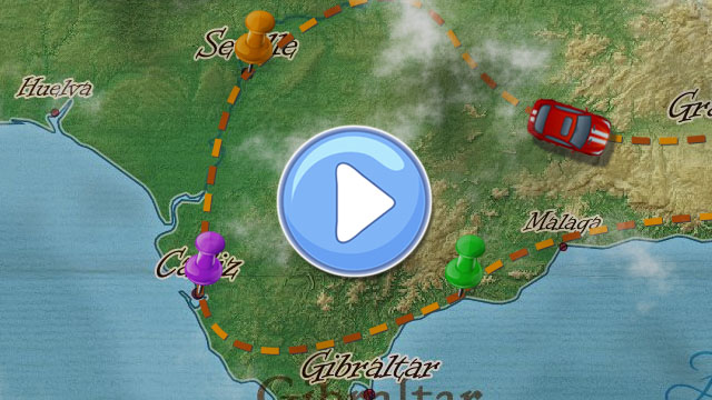 create animated travel map